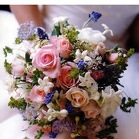 green, Roses, Lime, Stephanotis, Accents, Pinks, Muscari