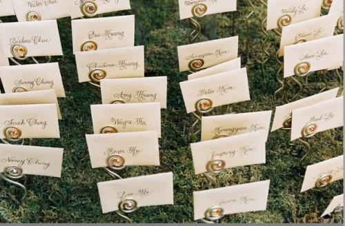 Calligraphy, Sasha souza events, Name cards