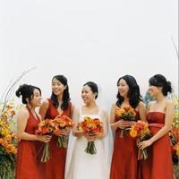 Flowers, Bouquet, red, orange, Bridesmaids, yellow, gold, Fall, Sasha souza events, Flowers & Decor, Bride Bouquets, Fall Wedding Flowers & Decor, Bridesmaid Bouquets, Fashion, Bridesmaids Dresses, Flower Wedding Dresses, Fall Wedding Dresses