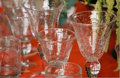 yellow, orange, red, gold, Glassware