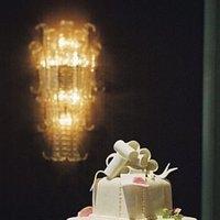 Cakes, white, pink, cake, Fondant
