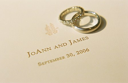 Stationery, Invitations, Rings, Monogram, Double happiness