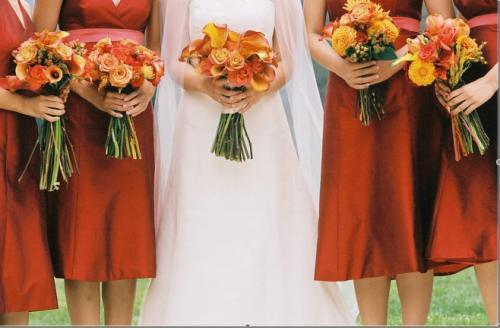 Flowers & Decor, Bridesmaids, Bridesmaids Dresses, Fashion, yellow, orange, red, gold, Bride Bouquets, Bridesmaid Bouquets, Fall, Flowers, Fall Wedding Flowers & Decor, Bouquet, Sasha souza events, Flower Wedding Dresses, Fall Wedding Dresses
