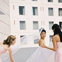 Bridesmaids, Bridesmaids Dresses, Wedding Dresses, Fashion, white, pink, dress, Bride