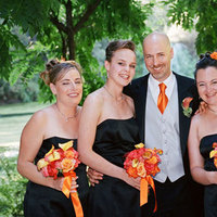 Bridesmaids, Bridesmaids Dresses, Fashion, orange, black, Groom