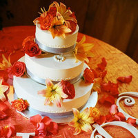 Flowers & Decor, Cakes, orange, cake, Garden Wedding Cakes, Flowers