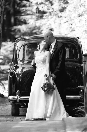 Bride, Groom, Kiss, Car, Transportation