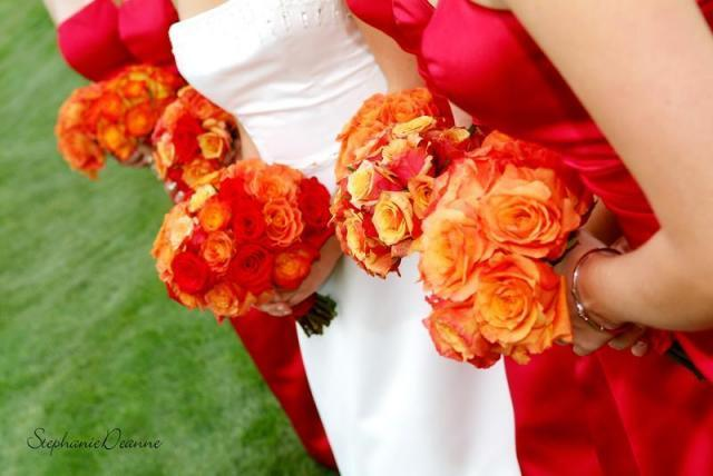 Flowers & Decor, orange, red, Bride Bouquets, Flowers, Bouquet, Girls