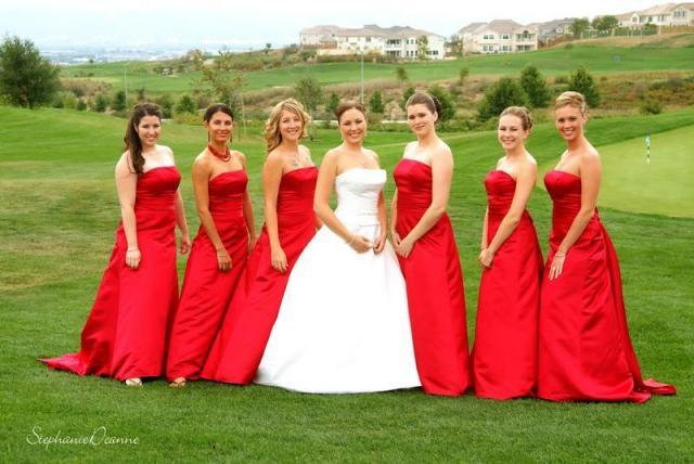Bridesmaids, Bridesmaids Dresses, Fashion, red, Girls