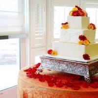 Reception, Flowers & Decor, Cakes, orange, red, cake