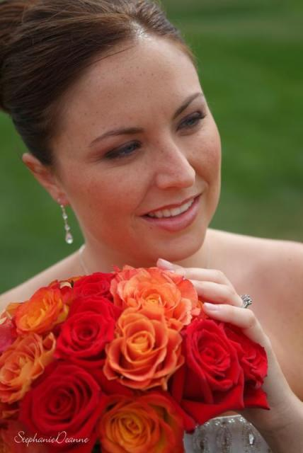 Flowers & Decor, orange, red, Bride Bouquets, Flowers, Bouquet, Steph