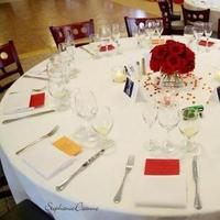 Reception, Flowers & Decor, yellow, red, Centerpieces, Flowers