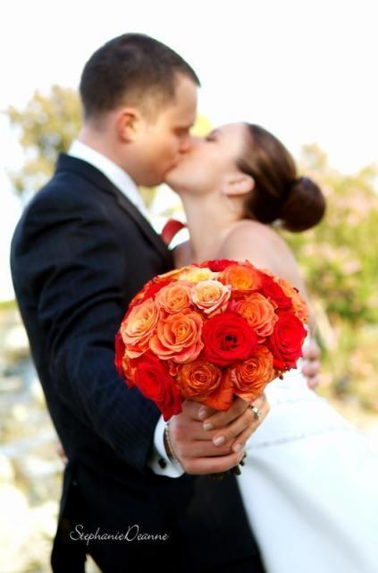 Flowers & Decor, orange, red, Bride Bouquets, Flowers, Bouquet