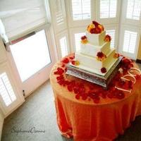 Reception, Flowers & Decor, Cakes, orange, red, cake