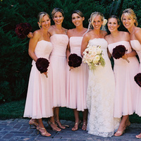 Bridesmaids, Bridesmaids Dresses, Wedding Dresses, Fashion, pink, dress, Brides bouquet