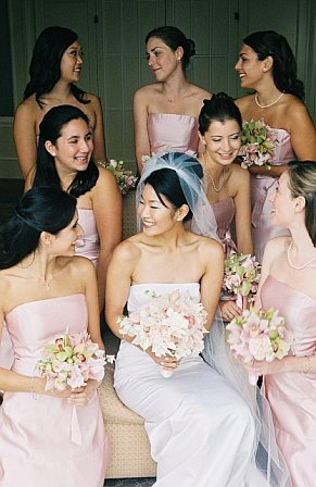 Flowers & Decor, Bridesmaids, Bridesmaids Dresses, Fashion, pink, Bride Bouquets, Bridesmaid Bouquets, Bride, Flowers, Bouquet, Flower Wedding Dresses