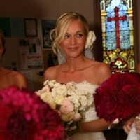 Ceremony, Flowers & Decor, pink, red, Ceremony Flowers, Bride Bouquets, Bride, Flowers, Bouquet