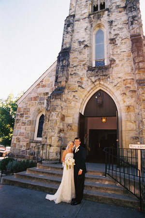 Bride and groom, Church
