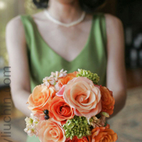 orange, Bridesmaid Bouquets, Fall Wedding Flowers & Decor