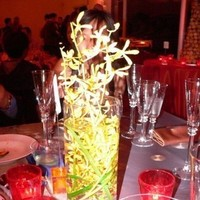 yellow, red, Centerpiece