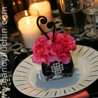Flowers & Decor, pink, black, Flowers, Nancy liu chin