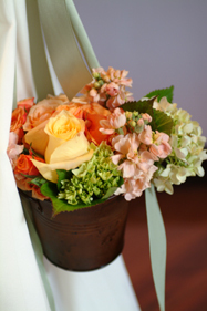 Flowers & Decor, white, yellow, orange, pink, green, Flowers, Nancy liu chin