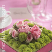 Reception, Flowers & Decor, pink, green, Flowers, Nancy liu chin