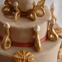 Cakes, red, gold, cake