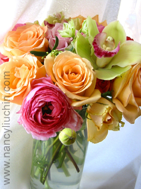 Flowers & Decor, orange, pink, green, Flowers, Nancy liu chin