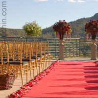 Flowers & Decor, Ceremony Flowers, Aisle Decor, Vineyard Wedding Flowers & Decor