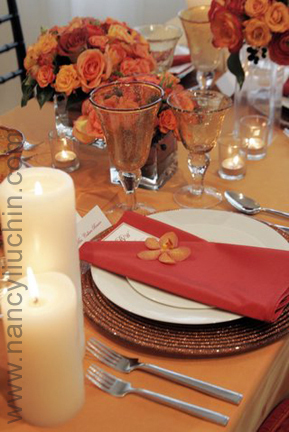 Reception, Flowers & Decor, orange, Centerpieces, Flowers, Centerpiece, Nancy liu chin