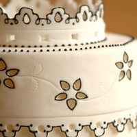 Cakes, white, black, cake, Lace