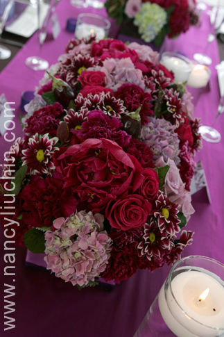 Flowers & Decor, pink, purple, Centerpieces, Flowers, Centerpiece, Nancy liu chin