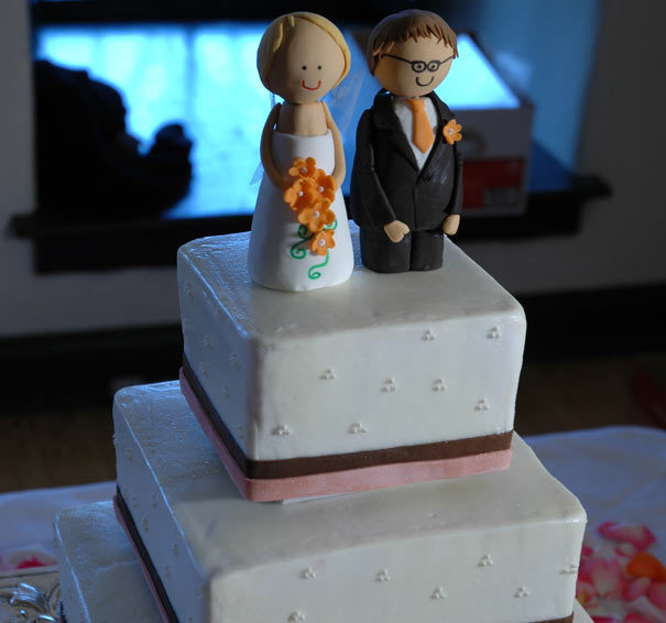 Cakes, pink, brown, cake, Cake topper