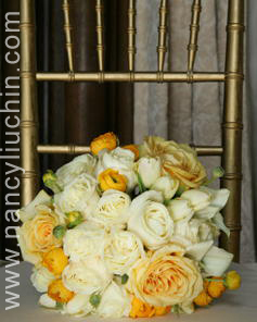 Flowers & Decor, white, yellow, gold, Flowers, Nancy liu chin