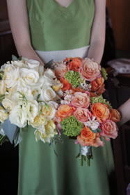 Flowers & Decor, white, orange, green, Bride Bouquets, Flowers, Bouquet, Nancy liu chin