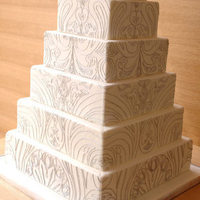 Cakes, white, cake, Square Wedding Cakes, Square, Lace, Texture