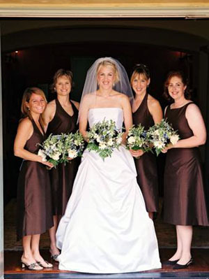 Bridesmaids, Bridesmaids Dresses, Fashion, brown