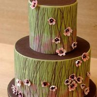 Flowers & Decor, Cakes, pink, green, cake, Floral Wedding Cakes, Garden Wedding Cakes, Vineyard Wedding Cakes, Flower, Grass