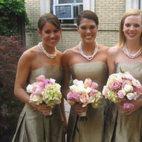 Bridesmaids, Bridesmaids Dresses, Fashion, ivory, pink, brown, Bouquet, Champagne