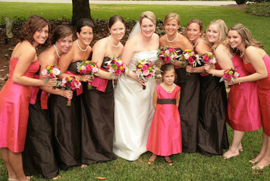 Bridesmaids, Bridesmaids Dresses, Fashion, pink, brown
