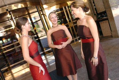 Bridesmaids, Bridesmaids Dresses, Fashion, red, brown