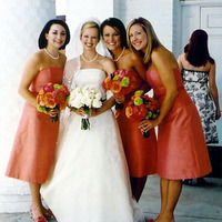 Bridesmaids, Bridesmaids Dresses, Fashion, orange, Peach
