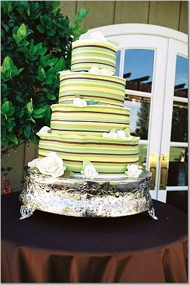 Cakes, white, green, brown, cake