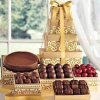 Favors & Gifts, brown, gold, Favors, Dessert, Harry and david, Chocolate