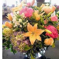 Flowers & Decor, yellow, pink, Centerpieces, Flowers, Centerpiece, Cattails