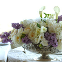 Beauty, Flowers & Decor, white, purple, Feathers, Centerpieces, Flowers, Centerpiece, Water lily pond
