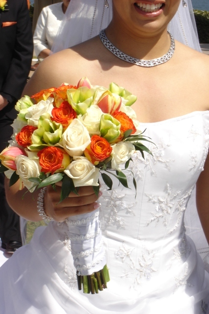 Flowers & Decor, orange, pink, green, Bride Bouquets, Flowers, Roses, Bouquet, Bridal, Love in bloom, Tulips, Hand, Tied, Vendela, Circus