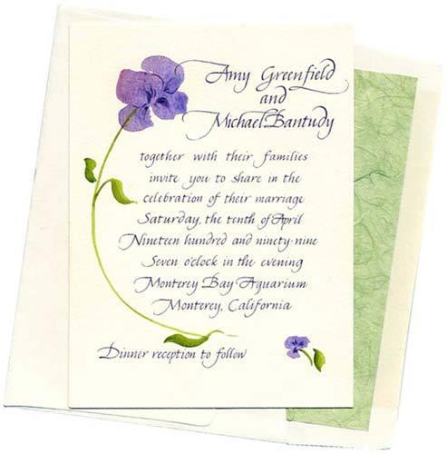Stationery, purple, green, Invitations, Inprint