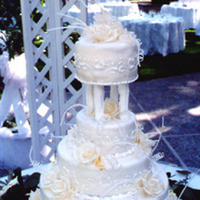 Cakes, white, cake, Creative international pastries